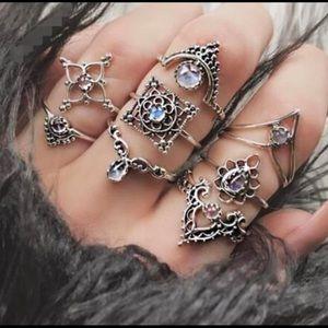 3/$20 Vintage Diamond Drop Ring Set